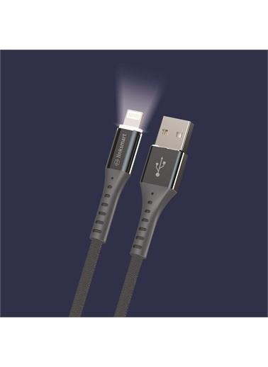 Linksmart Lsm05 Led Aydınlatmalı Lightning Şarj Ve Data Kablosu 120 Cm Renkli